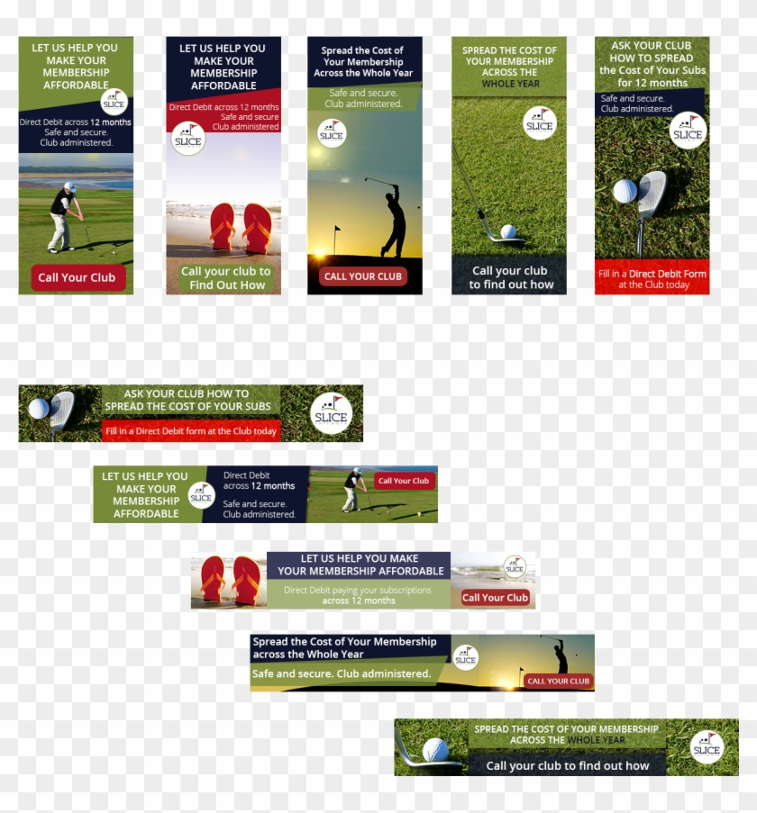 Banner Ad Design By Kristina Andonoff For Pricap Services Golf Course Banner Ad Clipart 3503161 Pikpng