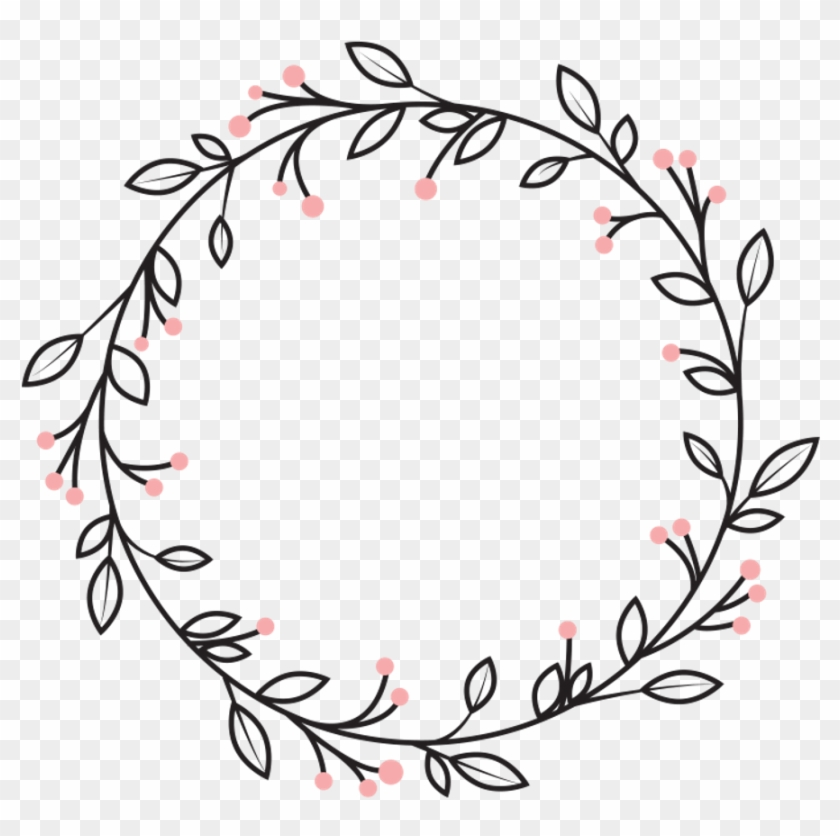 Berries Leaves Vines Wreath Swirls Decoration Icon - Circle Clipart Png Decorative, Transparent Png #3504829