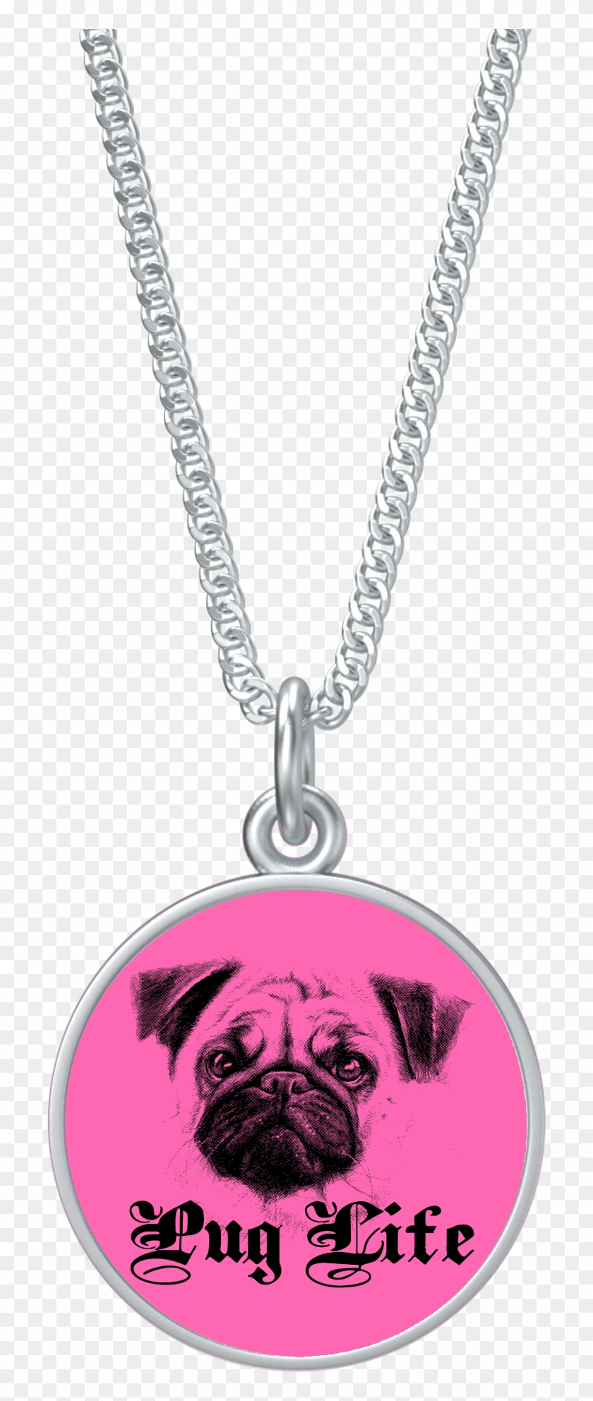 Beautiful Pug Life Necklace For Pug Dog Owners - Necklace Clipart #3515669