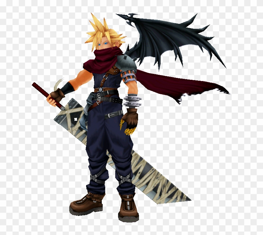No Body Seems To Be Working On The Model For The Kh - Cloud Strife Kingdom Hearts Clipart #3518222