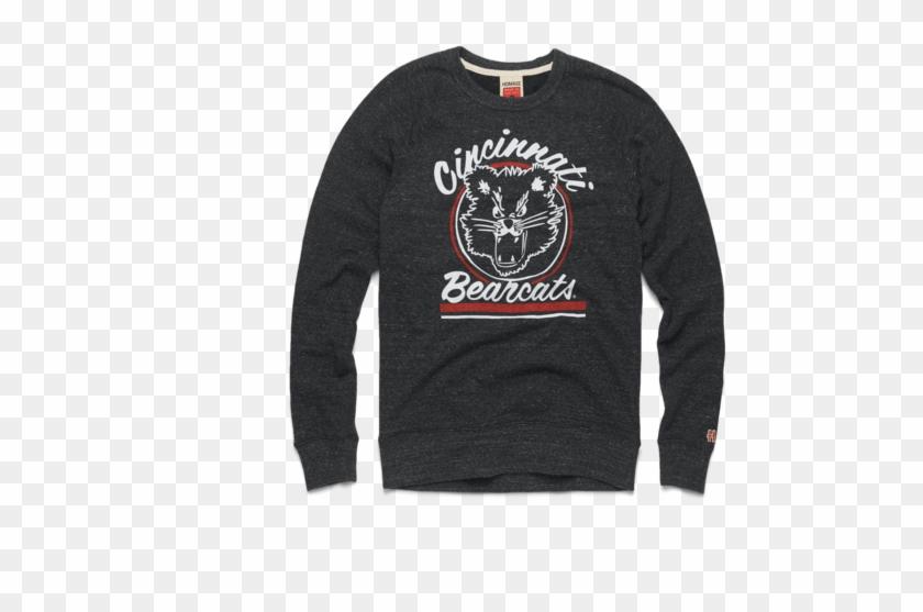Go Bearcats Crewneck University Of Cincinnati Retro - Long-sleeved T-shirt Clipart #3518633