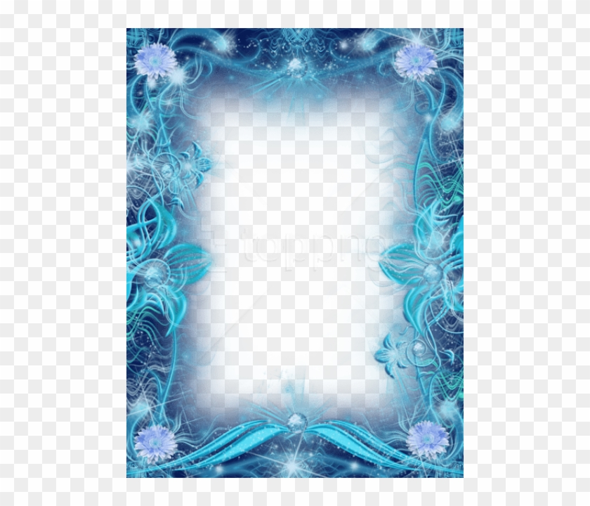 Free Png Best Stock Photos Blue Transparent Photo Frame - Frame Flower Border Design Clipart #3531103