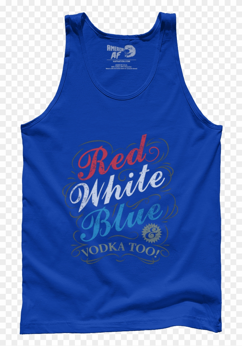 Red White Blue & Vodka - Active Tank Clipart #3532603