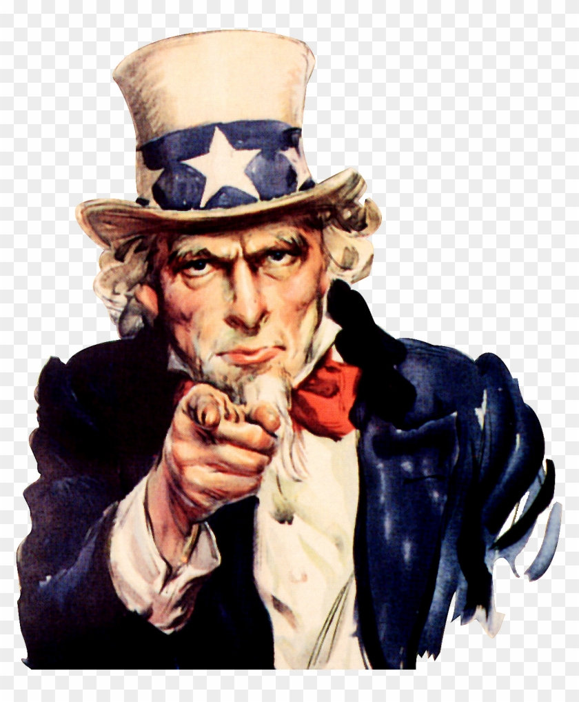 Uncle Sam We Want You - Uncle Sam I Want You Poster Clipart #3534721
