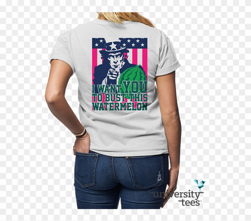 Uncle Sam Wants You To Have Kickass Shirts For Watermelon - Watermelon Bust T Shirt Design Clipart #3535533