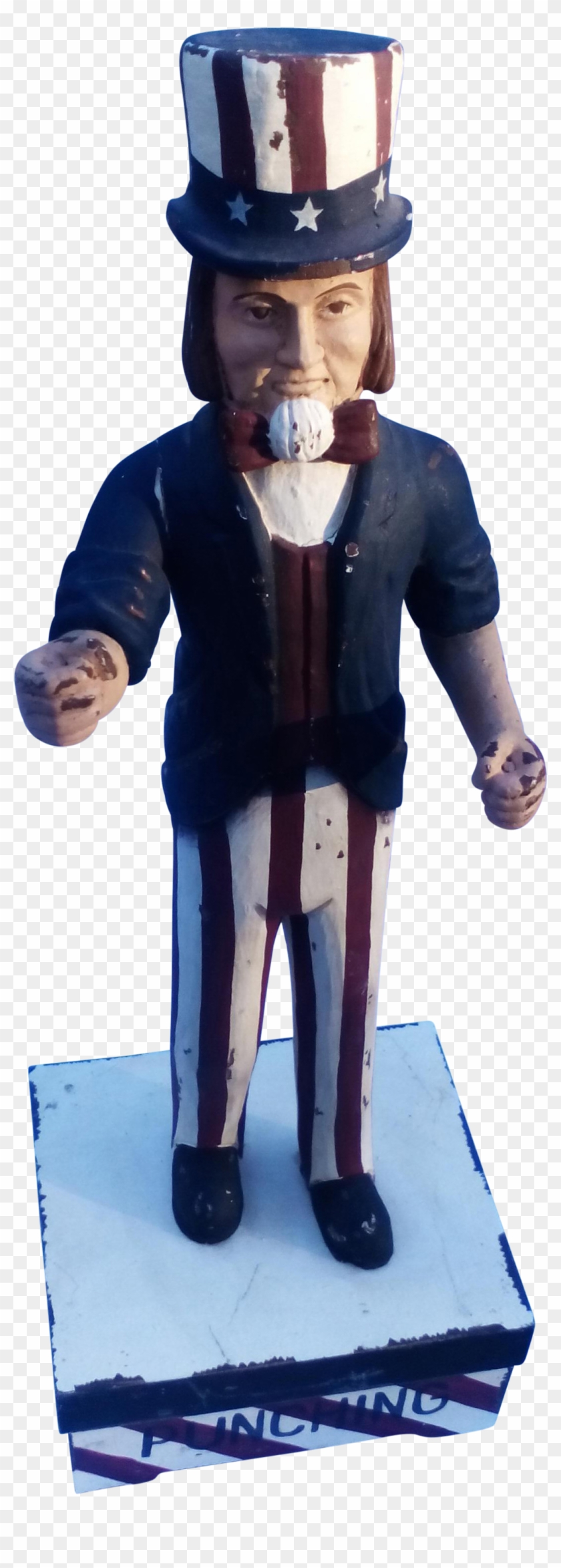 Hand Carved Wooden Uncle Sam On Chairish - Figurine Clipart #3535641