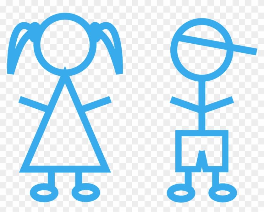 Children Stick Figures Girl Boy Png Image - Better Girls Or Boys Clipart #3537184