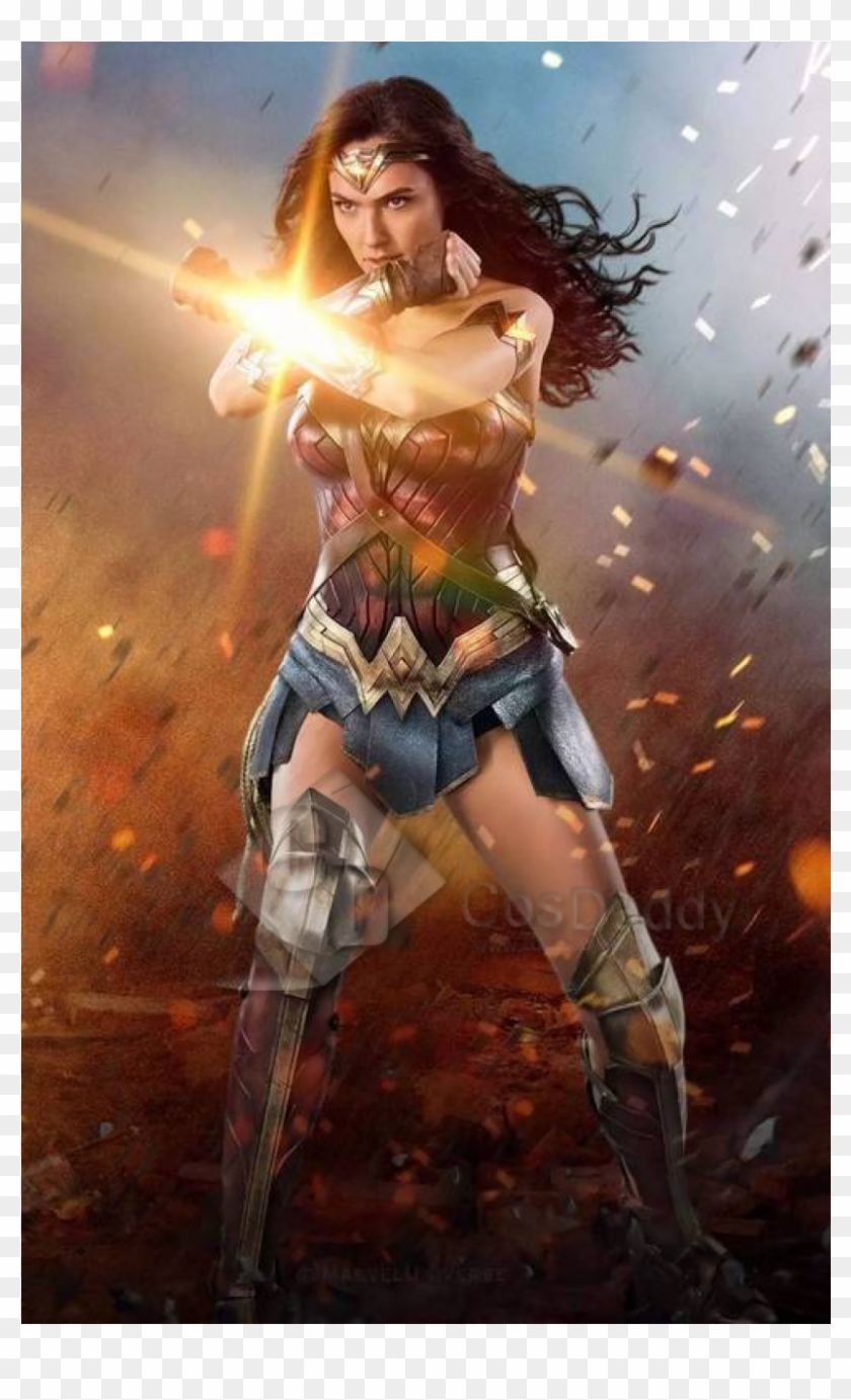 Cosdaddy For Childern Wonder Woman Diana Prince Battle - Captain Marvel Box Office Clipart #3537866