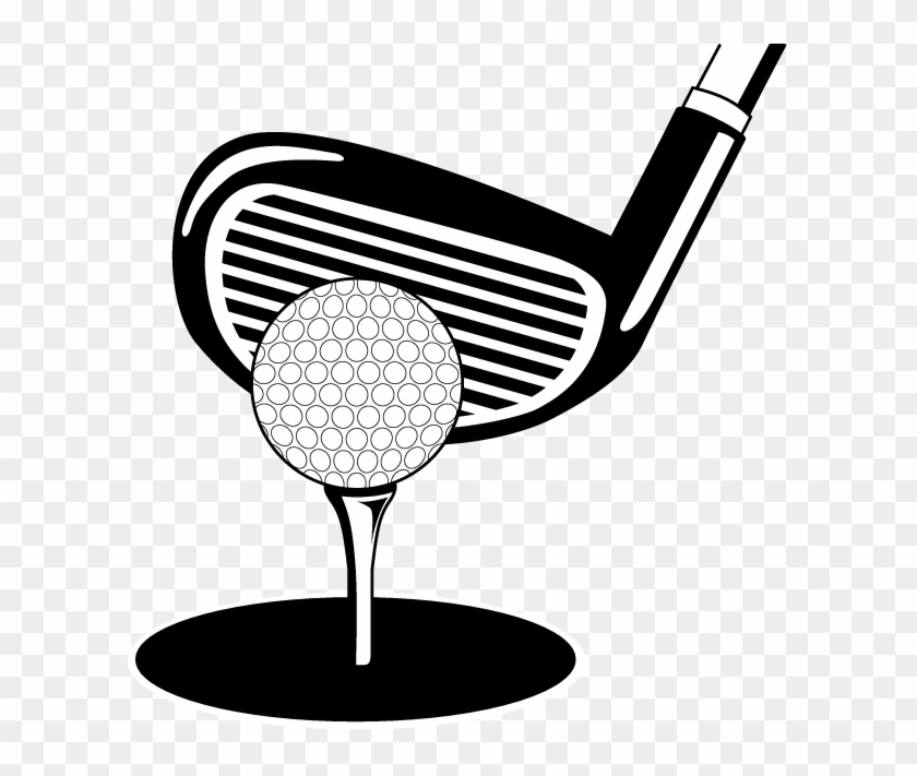 Golf Ball And Tee Clip Art Png Golf Club Black And White Clipart Transparent Png 3541593 Pikpng