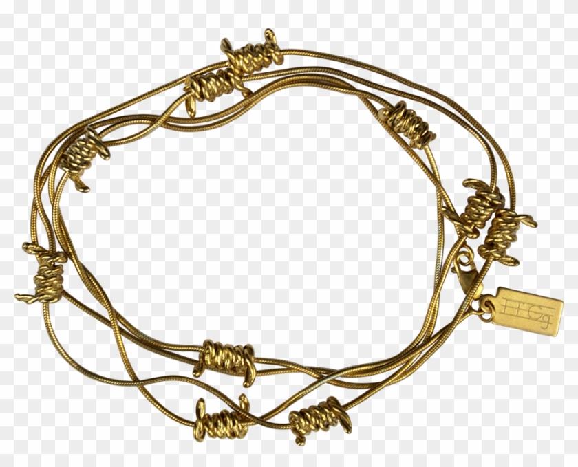 Barbed Wire Wrap Bracelet - Bracelet Clipart #3544057