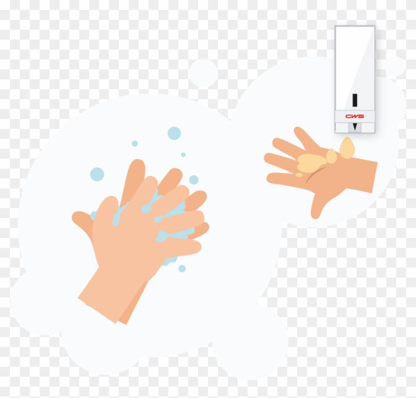 Hände Waschen Icon , Png Download - Hände Waschen Und Desinfizieren Clipart #3548117