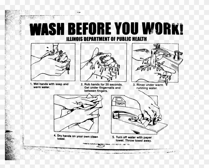 This Free Icons Png Design Of Wash Before You Work - Proper Hand Washing Clipart #3548547