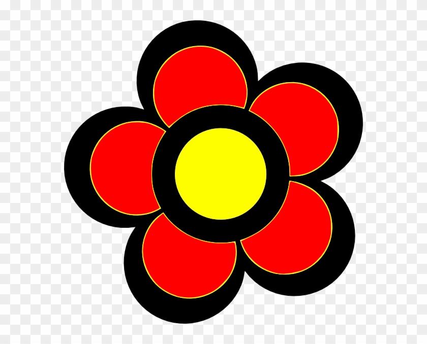 Color Clip Art At Clker Com Vector - รูป ดอกไม้ สวย ๆ การ์ตูน - Png Download #3563345