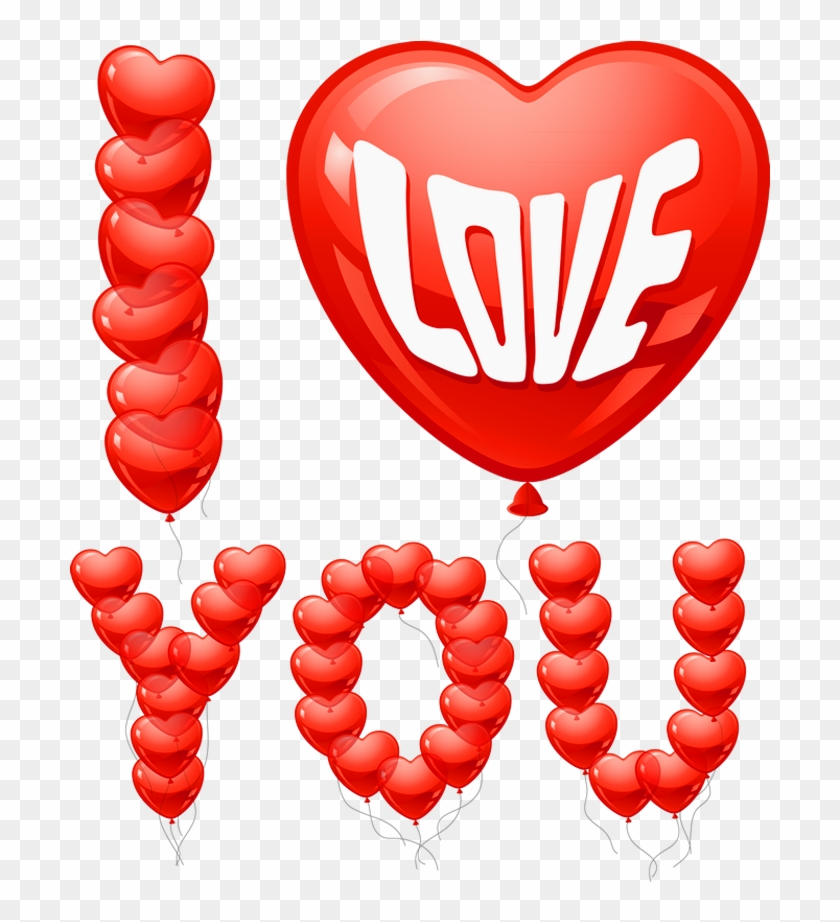 I Love You Balloons Png Clipart Picture - Valentines Day Graphics Transparent Png #3564011