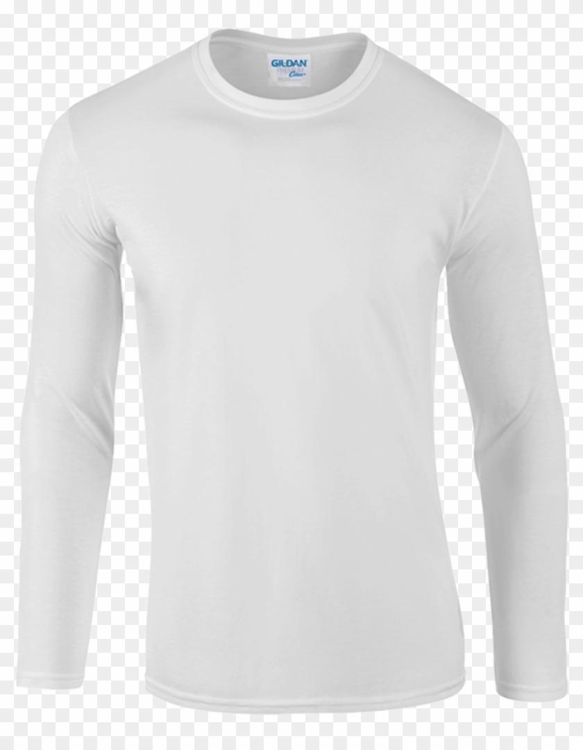 White - Long-sleeved T-shirt Clipart #3569351