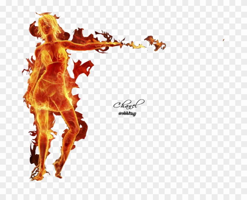 Girl On Fire - Girl On Fire Png Clipart #3571789