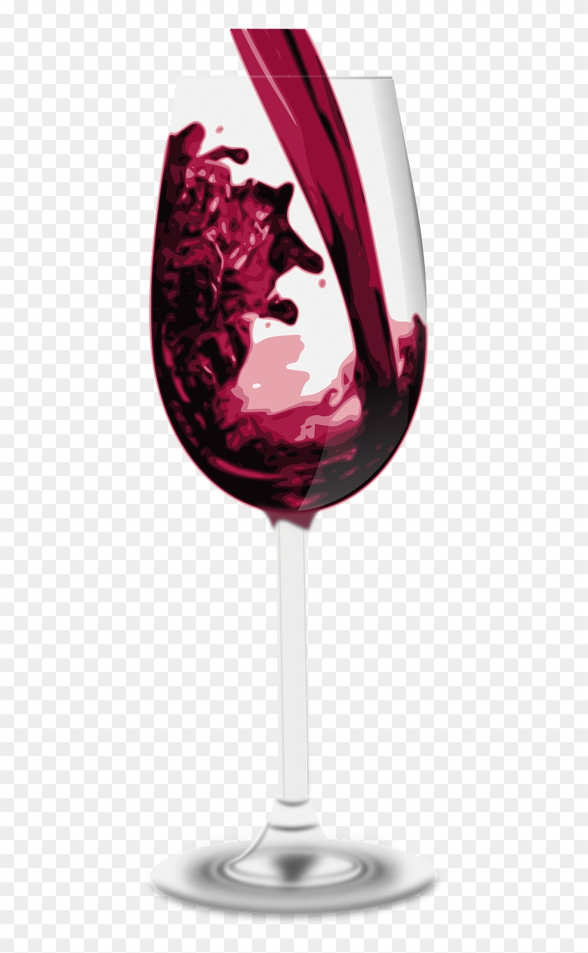 Wine,pour,free Vector Graphics - Red Wine, HD Png Download #3572368