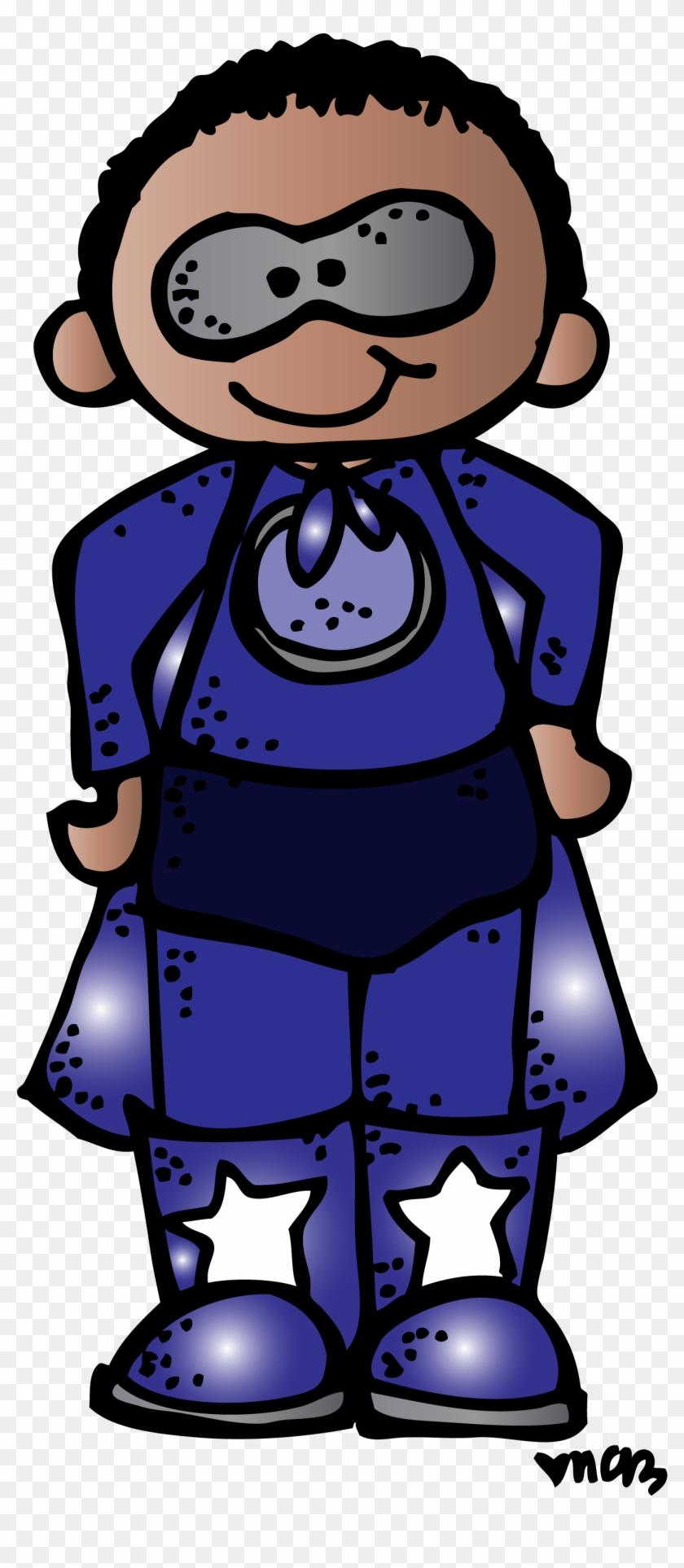 Batman Clipart Melonheadz - Melonheadz Gafetes Superheroes - Png Download #3572591