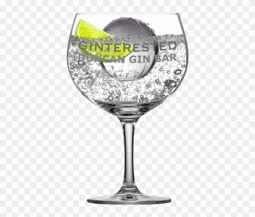 Ginterested Balon -with Garnish@2x - Copa De Balon Gin Glass Clipart #3572784