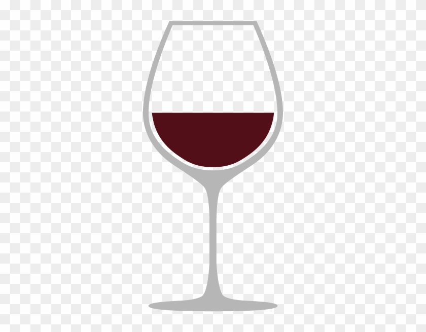 Burgundy Glass - Red Wine Glass Outline, HD Png Download #3572899