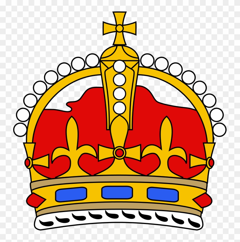 Royal Crown Curved Simple - Royal Crown Simple Clipart #3577131