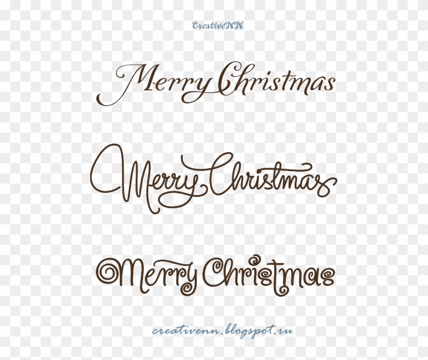 Free Digital Stamps - Handwriting Fonts Christmas Theme Clipart #3590095