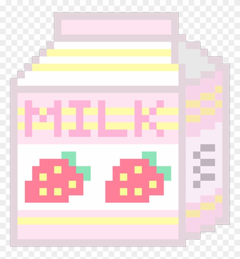 Kawaii Transparent Pixels Transparent Pixel Art Milk