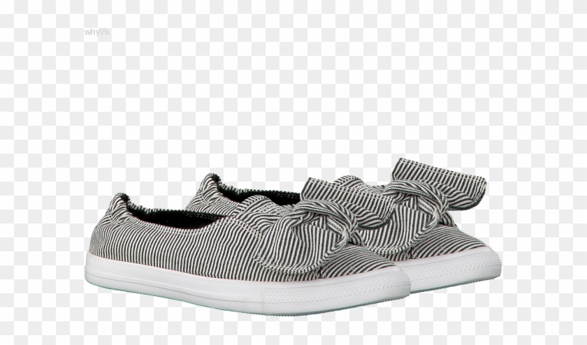 White Converse Ballet Pumps Ctas Knot Slip White/black/wh - Slip-on Shoe Clipart #3594257