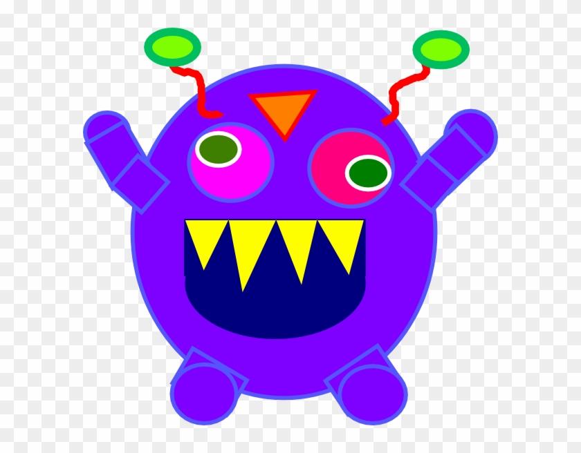 Blue Monster Svg Clip Arts 600 X 576 Px - Clip Art - Png Download #3594884