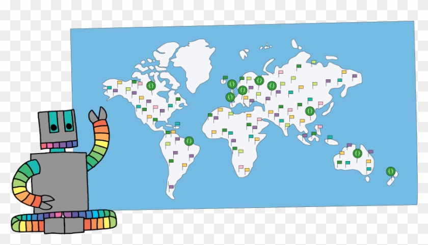 Over 13,000 Code Clubs Have Opened Around The World - Code Club World Clipart #3599578