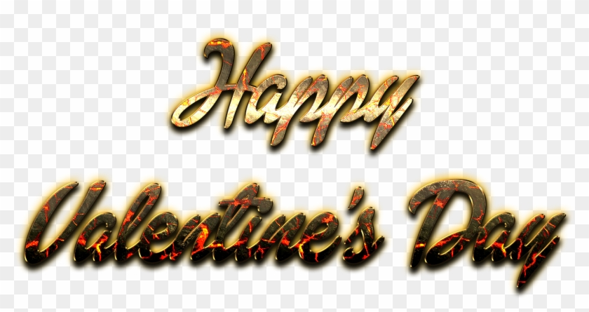 Happy Valentines Day Word Png Pic - Transparent Gold Happy Valentines Day Clipart #360699