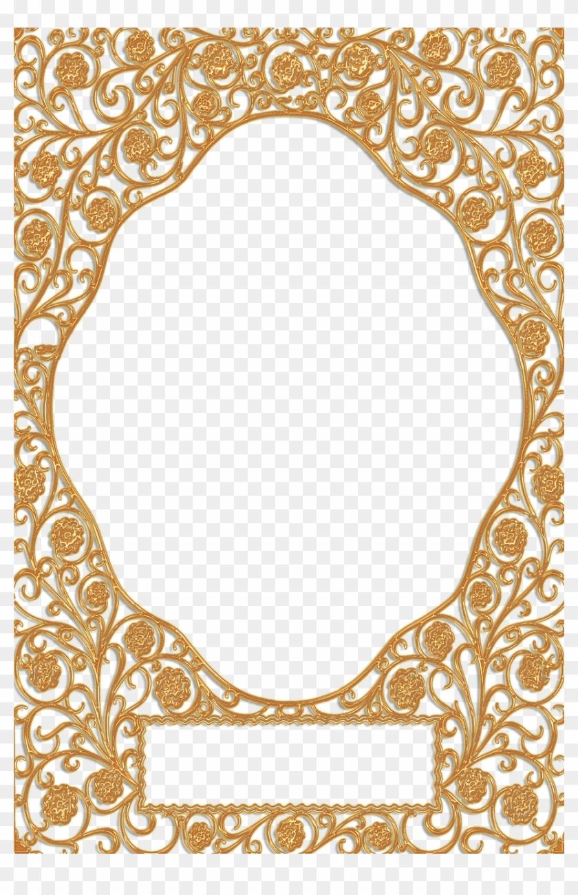 Golden Vintage Frames Png Clipart #364386