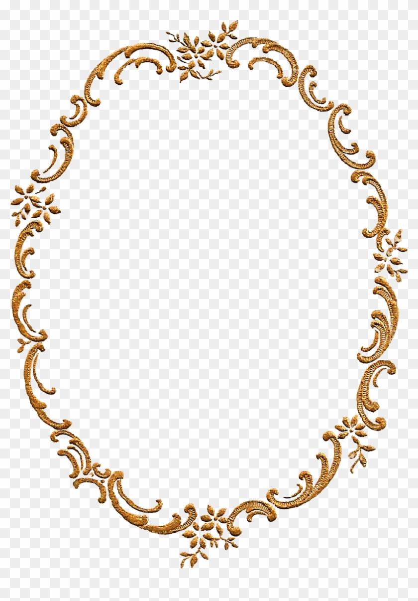 Gold Frames Design Png Clipart #364601