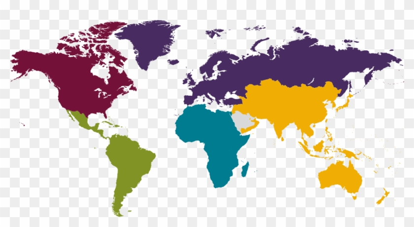 World Map North America - Korea In World Map Png Clipart ...