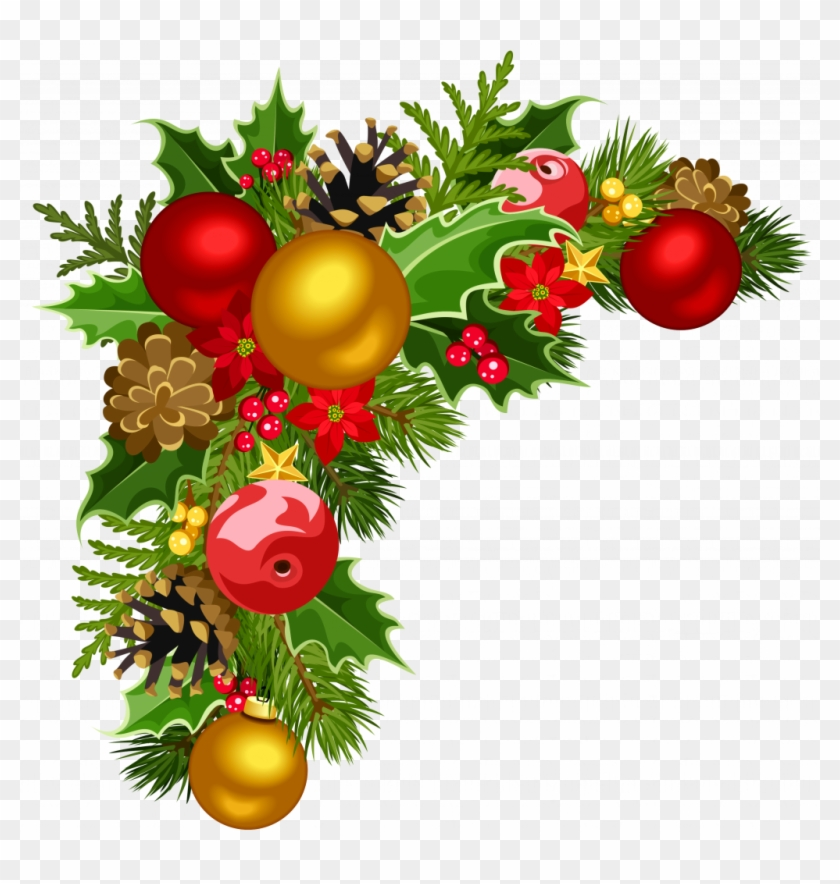 Christmas Ornaments Png Pictures - Transparent Christmas Border Design, Png Download #3601294