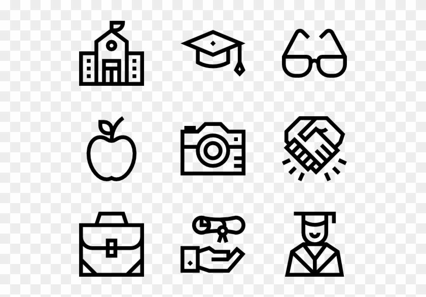 Graduation - Web Design Line Icon Clipart #3601344