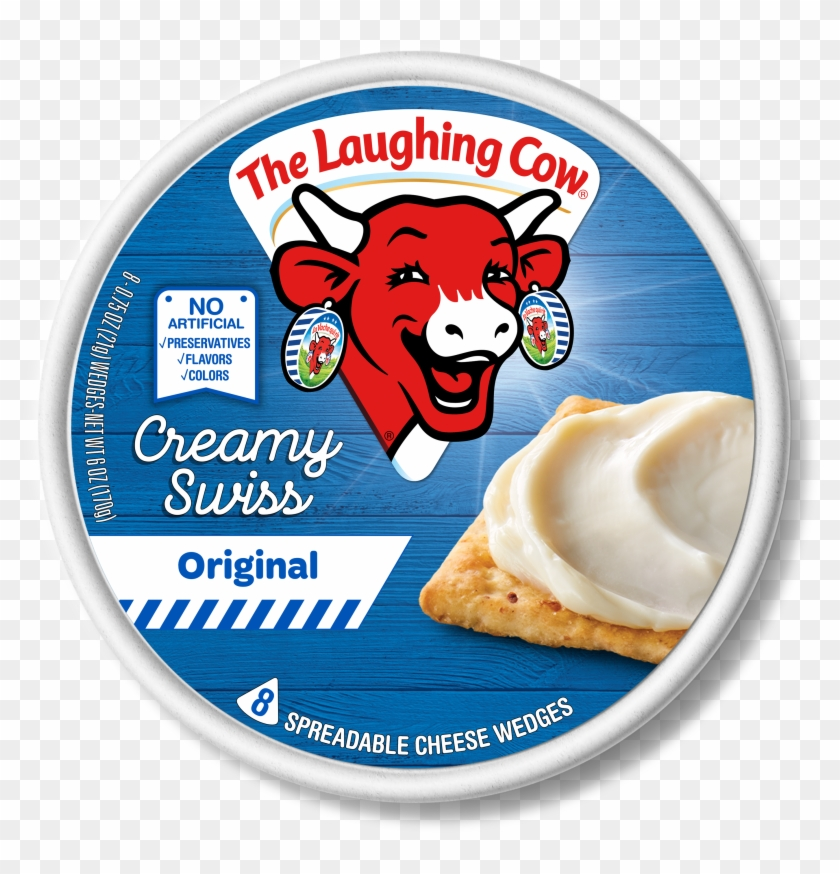 The Laughing Cow Creamy Original Swiss Cheese Spread, - Laughing Cow Cheese White Cheddar Clipart #3603889