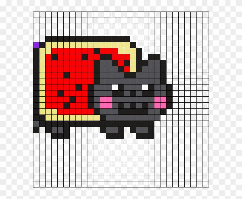 Nyan Harley Quinn Part1 Perler Bead Pattern / Bead - Pixel Art Neon Cat Clipart #3609748