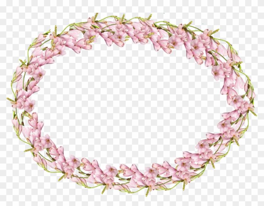 Frame Pink Bulb Pembe Cicek Cerceve Png Clipart 3615113 Pikpng