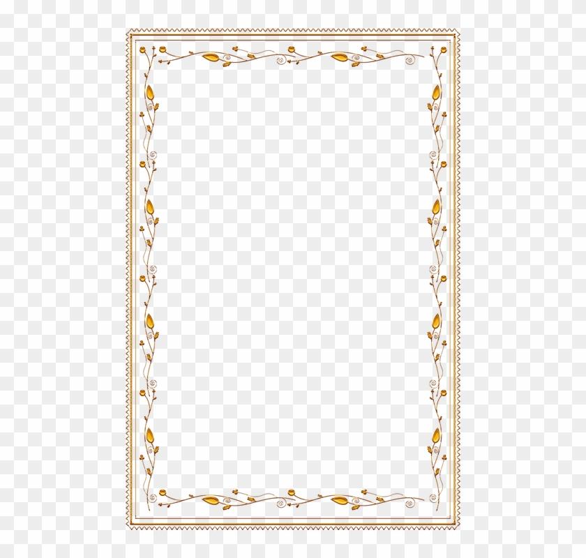 Frame, Ornate, Gold, Vintage, Portrait, Picture, Empty - Frame Border Designs Png Clipart #3616716