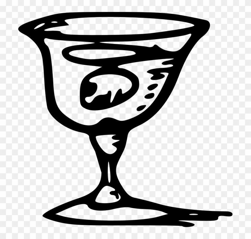 Martini Glass Goblet Wine Alcohol Party Beverage - Wine Glass Clip Art - Png Download #3626018