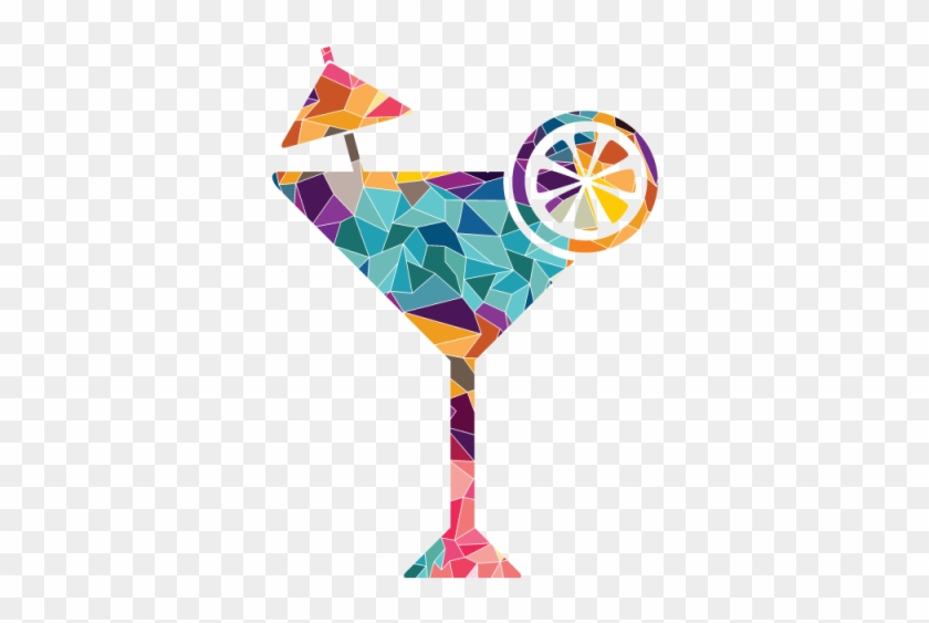 Colorful Martini And Vector - Logo Cocktail Lounge Bar Clipart #3626152