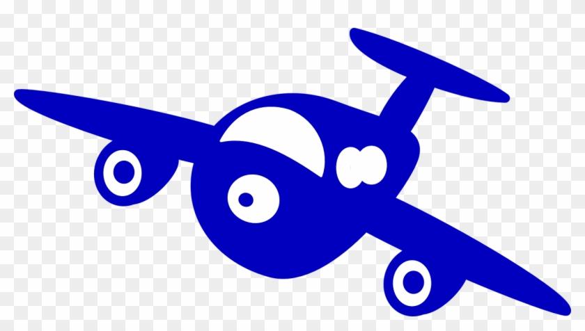 Plane Blue Front Cartoon Fly Png Image Aviao Desenho Animado Png