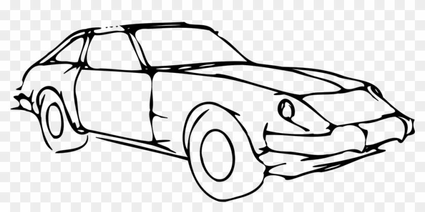 Car Bragger Fast Wheels Headligths Windows Mobil Hitam Putih Gambar Clipart 3629947 Pikpng