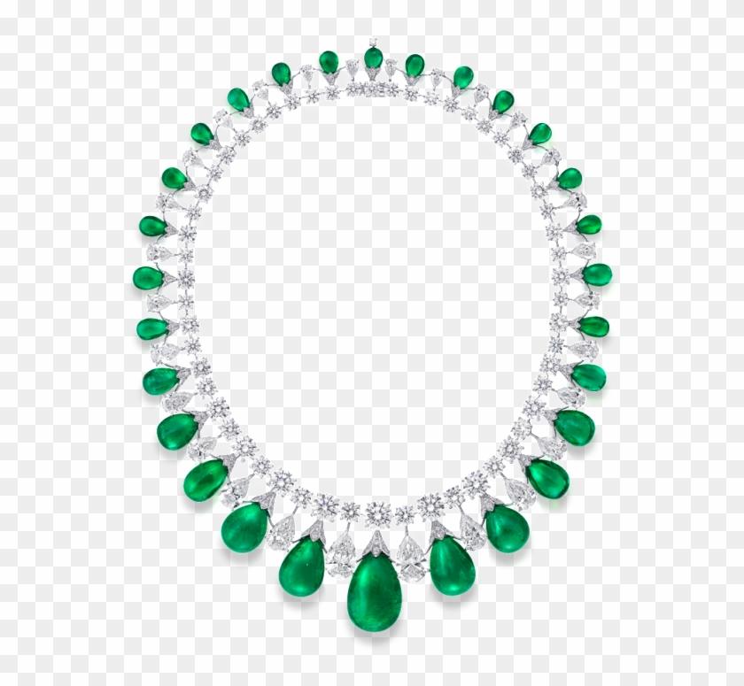 Graff Cabochon Emerald And Diamond Necklace - Emerald And Diamond Necklace By Graff Clipart #3632430