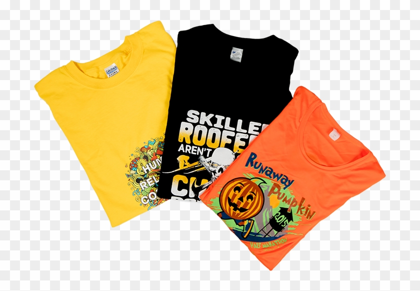 Heat Press , Png Download - Printed T Shirts Folded Clipart #3634503