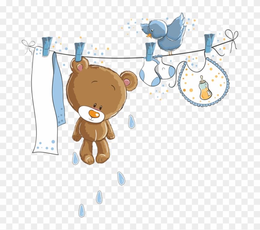 Clip Art Transparent Boy Baby Shower Clipart - Cute Bear Baby Png #3635364