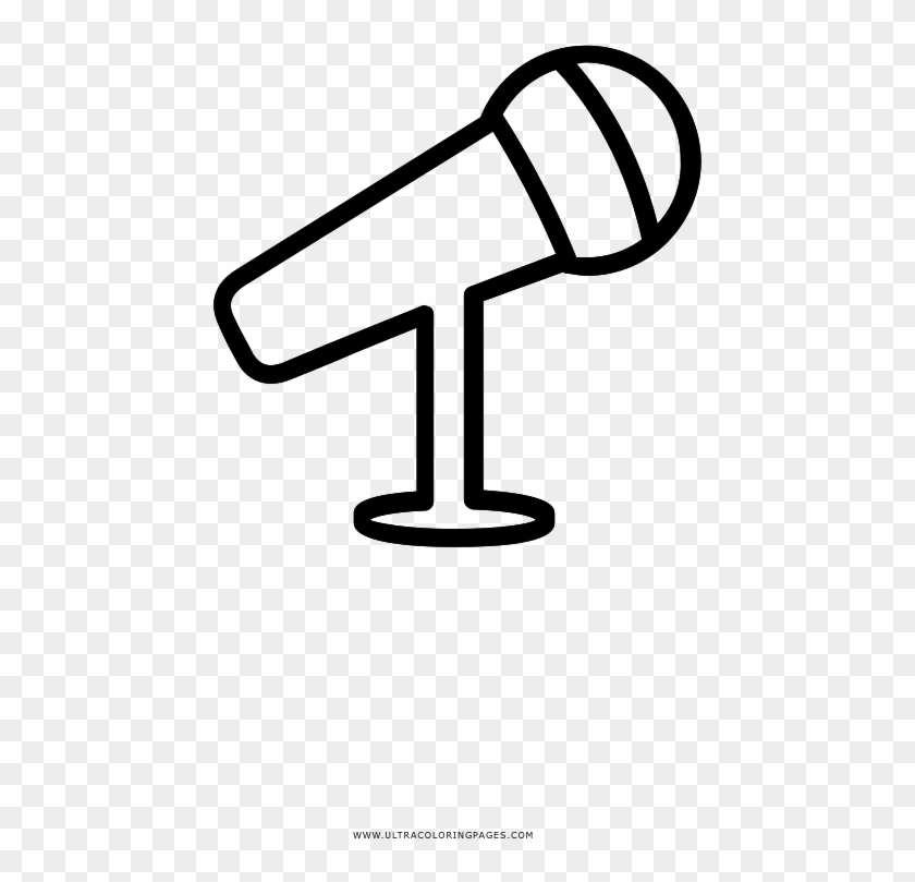 - Microphone Coloring Page - Micrófono Para Colorear Clipart (#3636929) -  PikPng