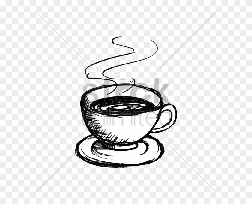 Cup Clipart Sketches - Coffee Mug With Smoke Drawing - Png Download #3641826