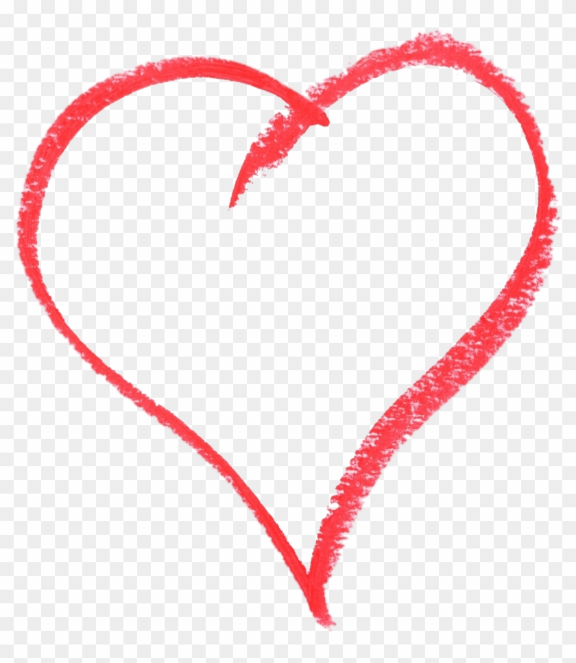 Heart Sketching Style Png - Transparent Heart Sketch Png Clipart #3642016
